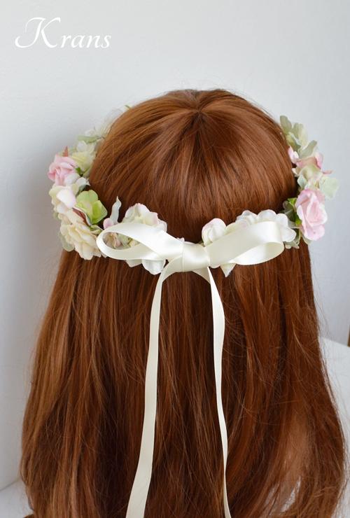 ウェディング花冠ヘアスタイル