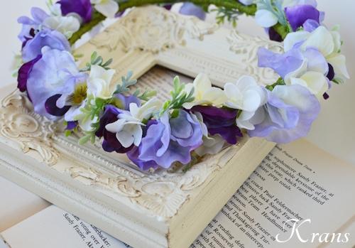結婚式大人パープル花冠