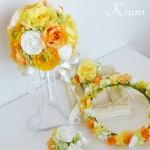 ビタミンカラーウェディング花冠