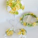 ララマリーの淡いビタミンカラー結婚式花冠セット1