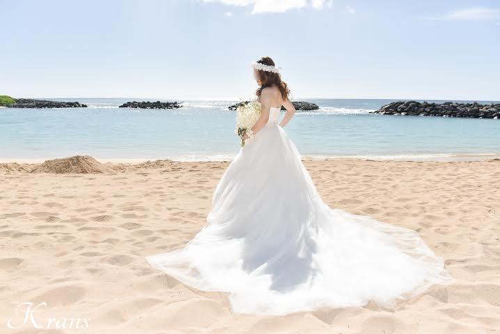 結婚式花冠、ウェディング花冠、白い花冠、ホワイト花冠、海外ウェディング