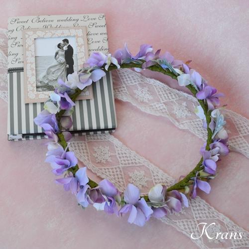 パープル紫ウェディング花冠7