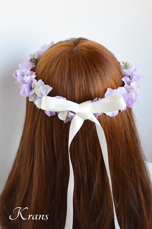 パープル紫ウェディング花冠6