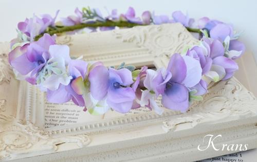 パープル紫ウェディング花冠2