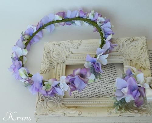 パープル紫ウェディング花冠