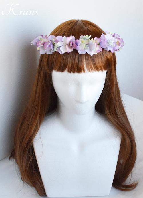 パープル紫ウェディング花冠3