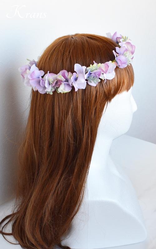 パープル紫ウェディング花冠4