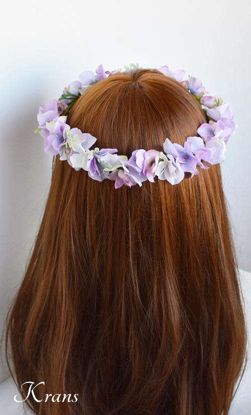 パープル紫ウェディング花冠5