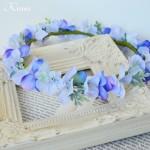 フェアリーブルーのウェディング花冠