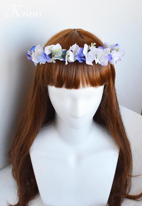 フェアリーブルー青い花かんむりヘアスタイル1