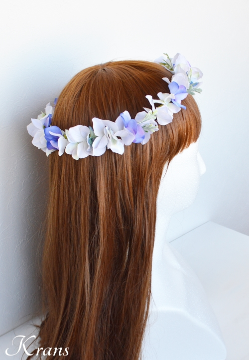 フェアリーブルー結婚式花かんむり1