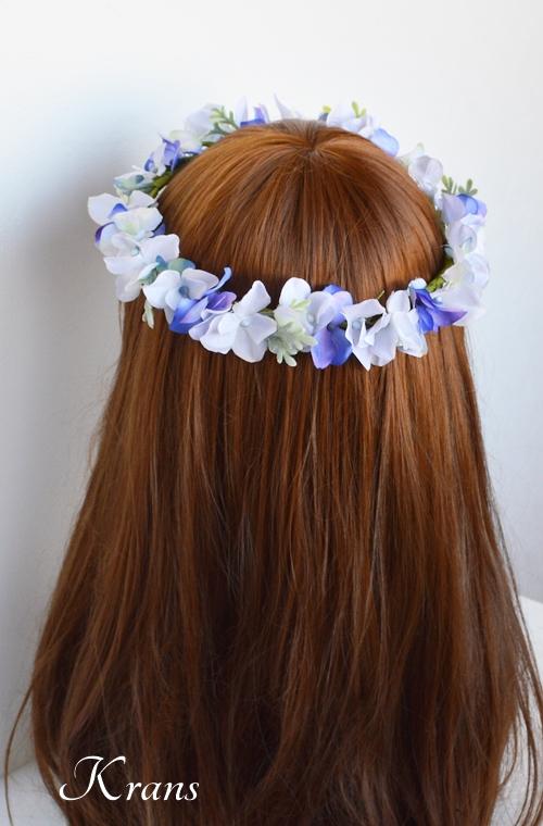 フェアリーブルー結婚式花かんむり2