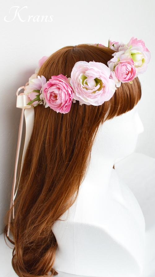 ピンク結婚式花冠4