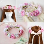 結婚式ピンク花冠