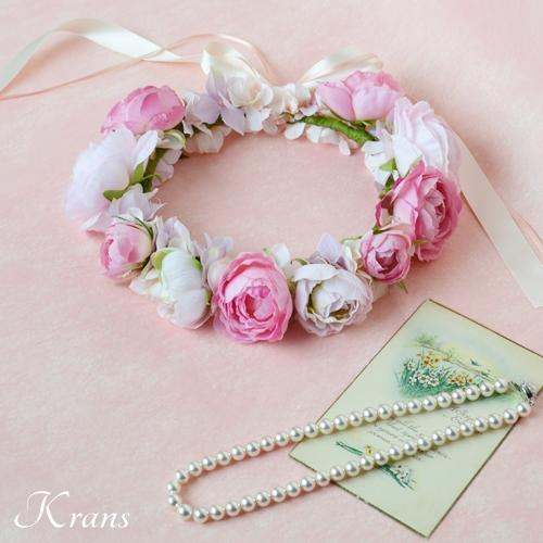 ピンク結婚式花冠9