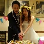 ひまわり結婚式花冠二次会フォト1