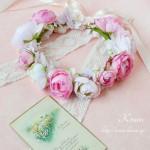 ロマンチックスタイルのウェディング花冠