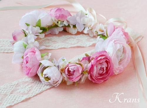 ピンク結婚式花冠7
