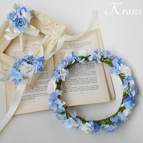 【オーダー】バラのエンジェルブルー花冠