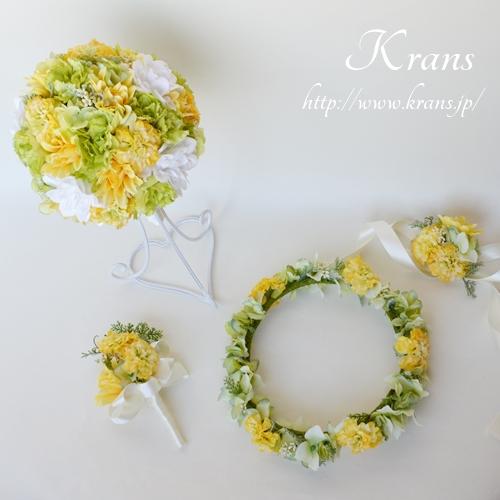 ビタミンカラーイエロー結婚式花冠2