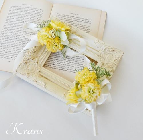 黄色結婚式花冠4