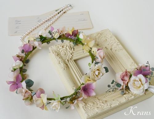 ナチュラルアンティーク結婚式花冠1