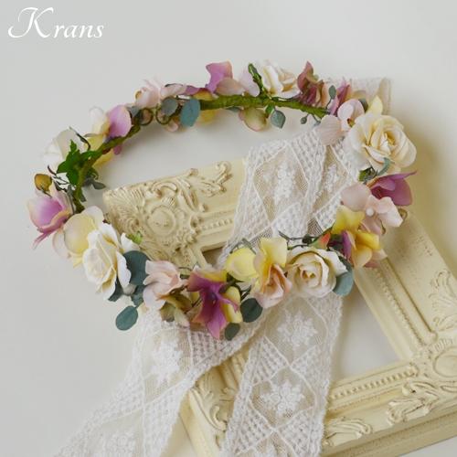 ナチュラルアンティーク結婚式花冠9