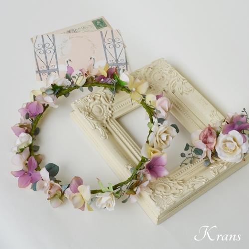 アンティークローズのウェディング花冠