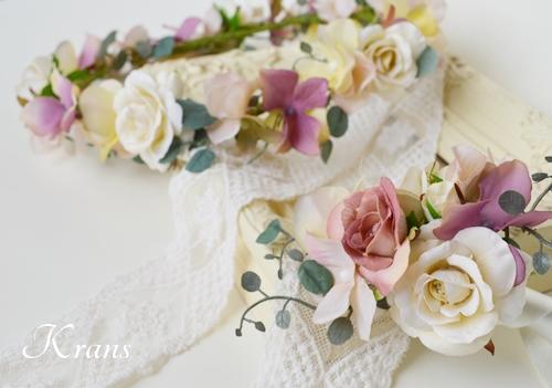 ナチュラルアンティーク結婚式花冠2