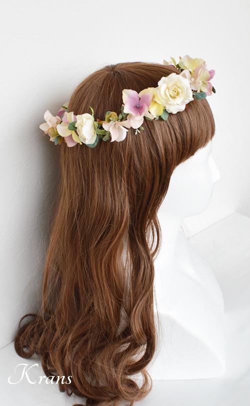ナチュラルアンティーク結婚式花冠5