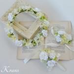 【オーダー】ホワイトローズと淡いイエローのナチュラル花冠