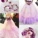 ピンク紫花冠コーディネート1