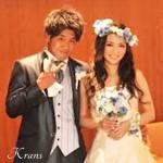 藤田様ローズの青い花冠1