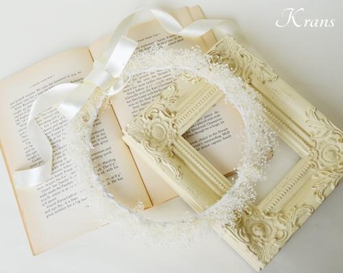 白いかすみ草の結婚式花冠12