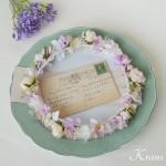 ピンクの結婚式花冠8