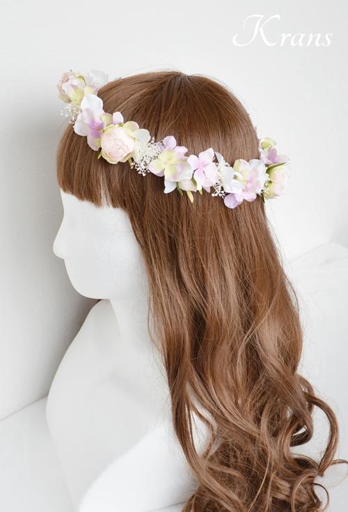 ピンク結婚式花冠6