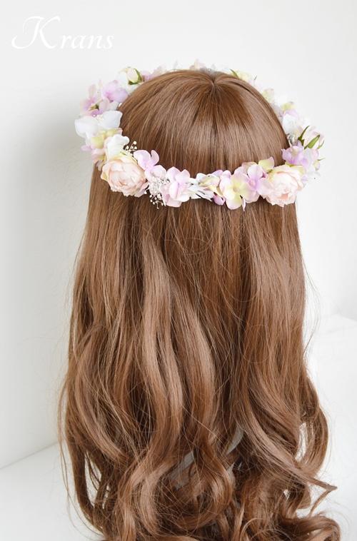 ピンク結婚式花冠8