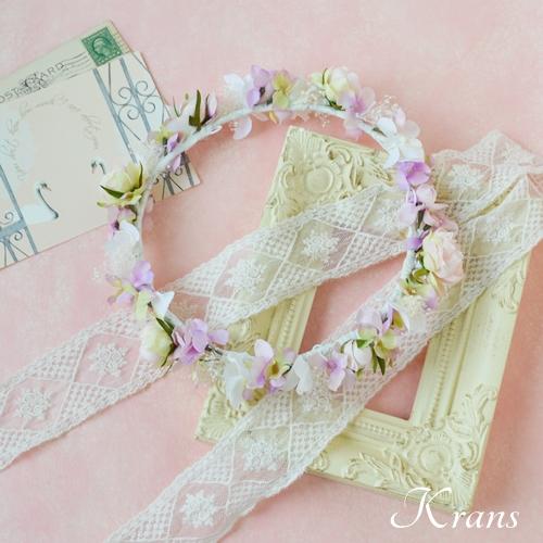 ピンク結婚式花冠3