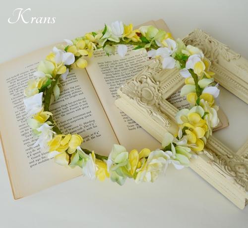 イエローローズ結婚式花冠I様オーダー2
