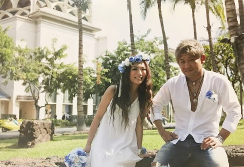 海外ウェディング、青い花冠、結婚式花冠、花かんむり、ウェディング花かんむり