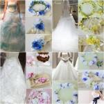 結婚式の花冠に似合うドレスコーディネート、ウェディング、花かんむり