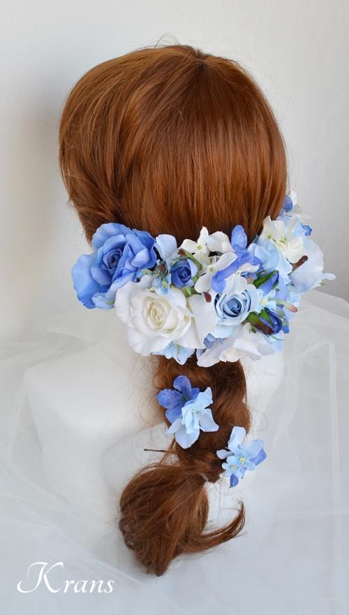 サムシングブルーのウェディングヘッドドレス6