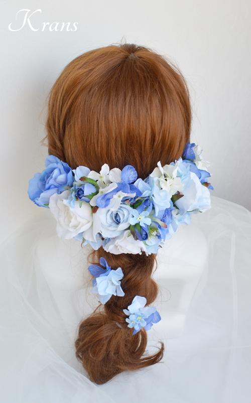 サムシングブルーのウェディングヘッドドレス5