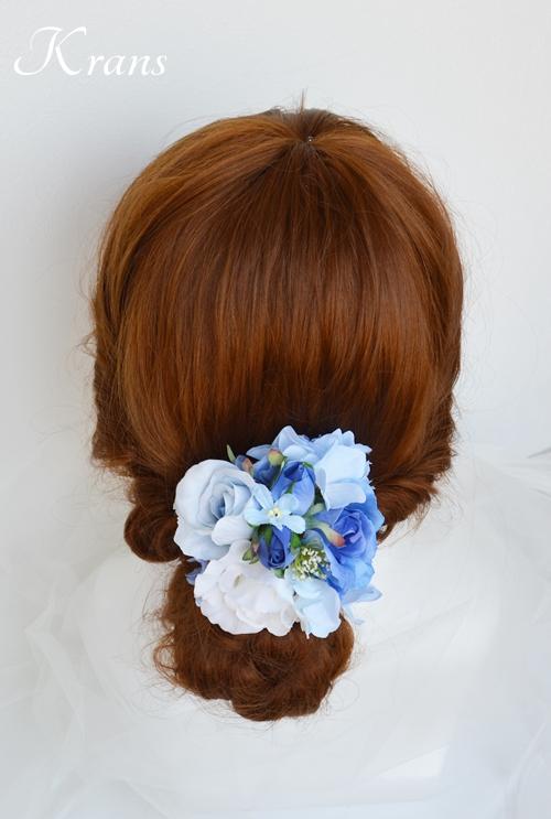 サムシングブルーのウェディングヘッドドレス9