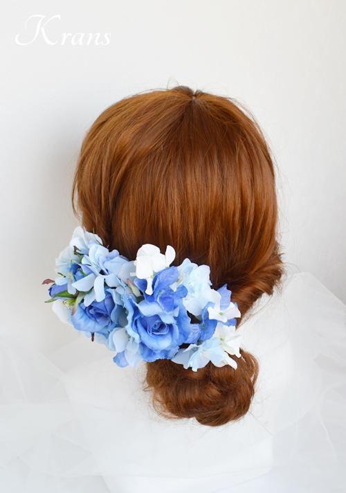 サムシングブルーのウェディングヘッドドレス8