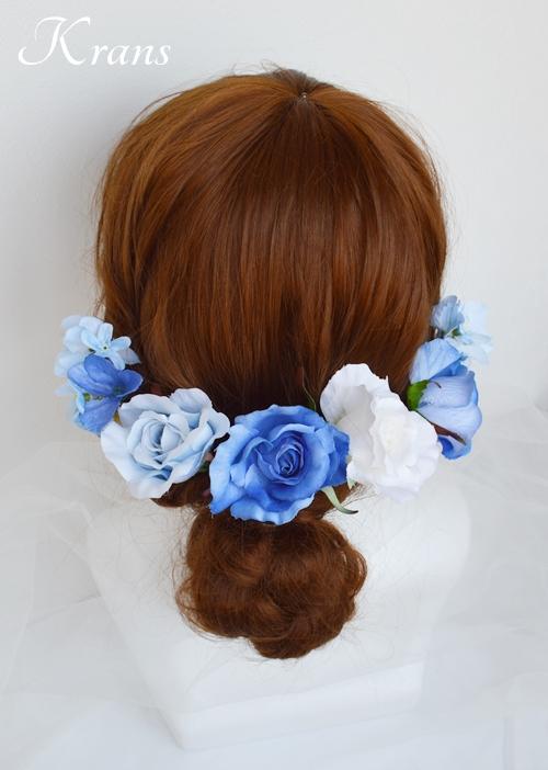 サムシングブルーのウェディングヘッドドレス10