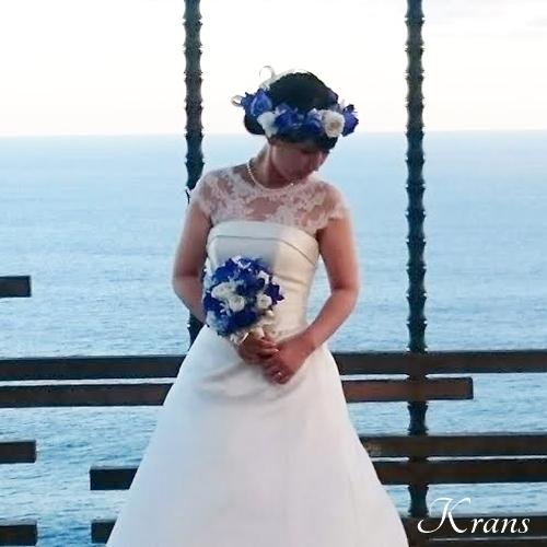 花冠青いバラ結婚式