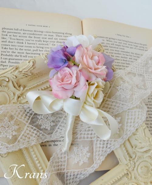花冠ピンクローズフラワーピック結婚式5