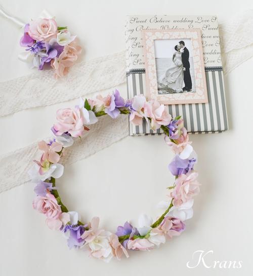 花冠ピンクローズ結婚式12