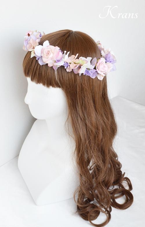 花冠ピンクローズ結婚式8